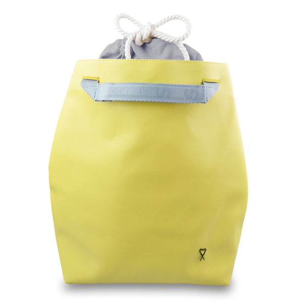 Backpack Yellow city with inner bag