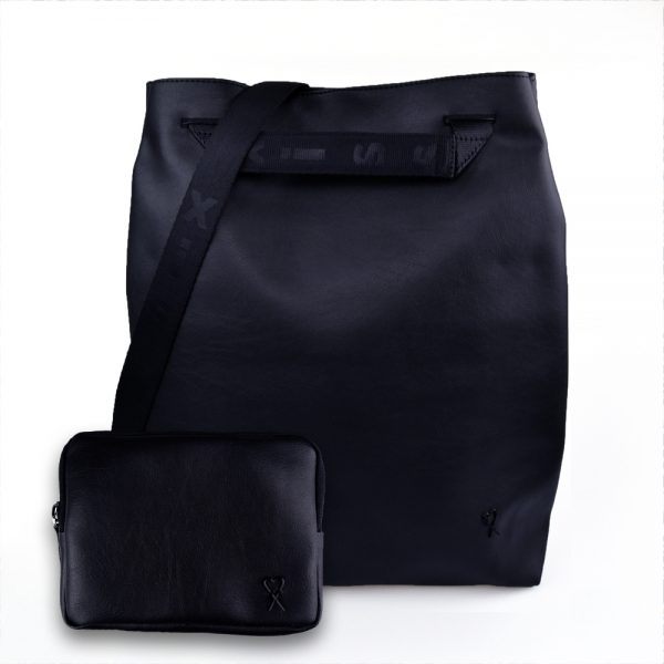 Black city backpack & wallet