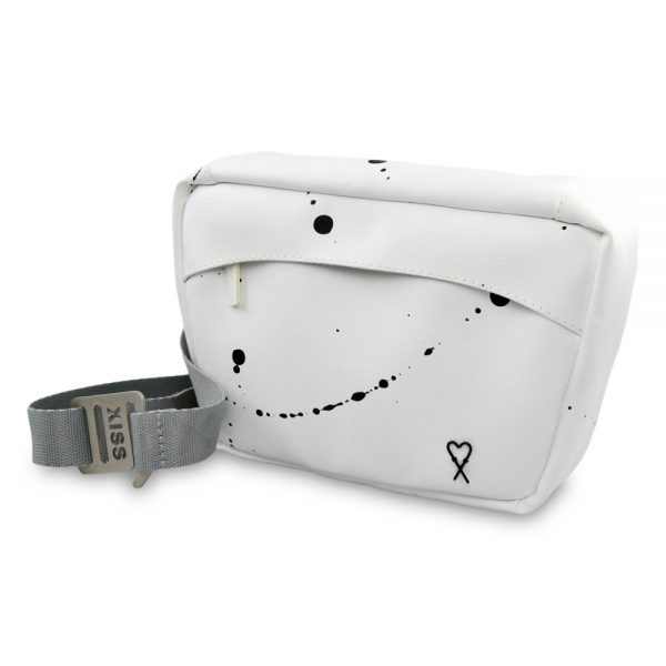 Splashed white fanny pack
