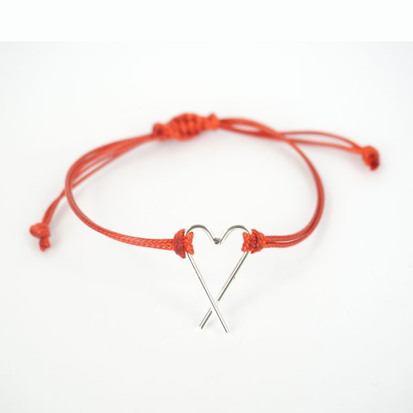 Armband Silver & red