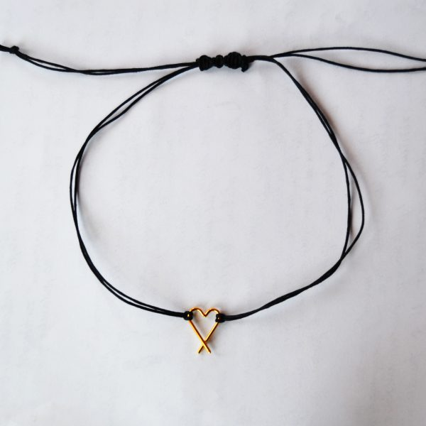 Foto - Choker gold & black