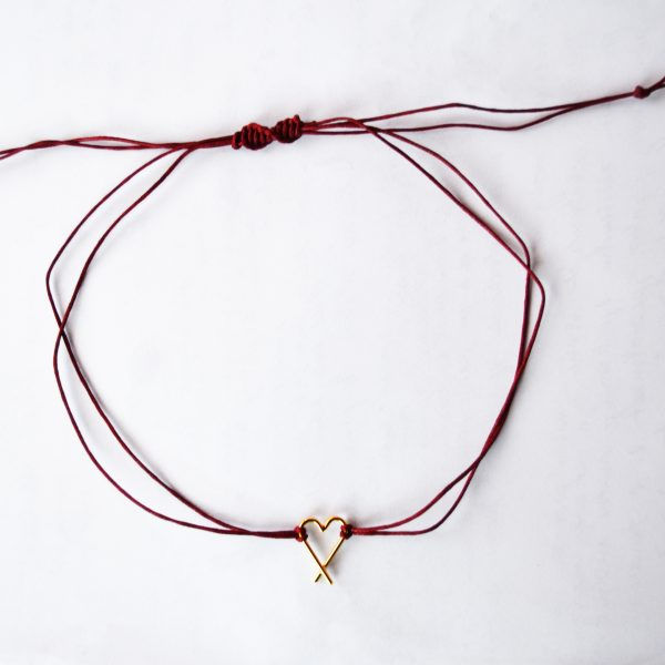 Choker gold & redwine