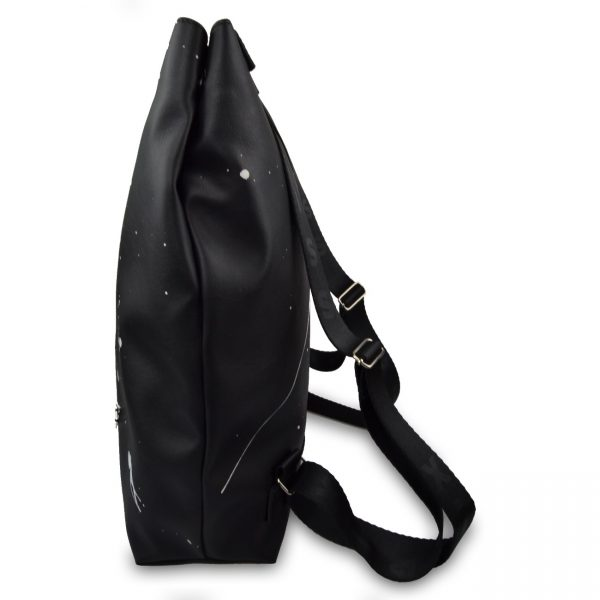 Foto - Backpack Splashed black city with inner bag