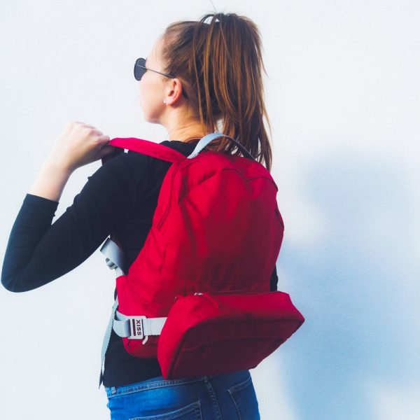 Foto - Backpack & fanny pack Red